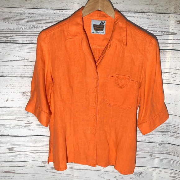In The Wash Tops - 3/4 sleeve button down shirt
